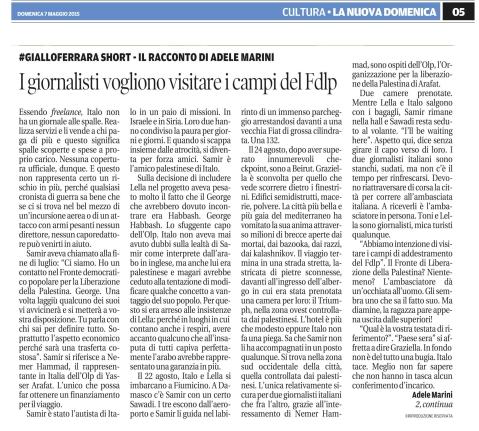 La Nuova Ferrara, 7 giugno 2015 da mandare ad adele